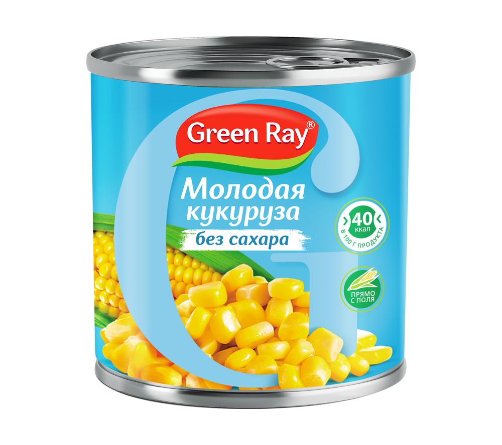 Кукуруза молодая Грин Рэй без сахара 425мл