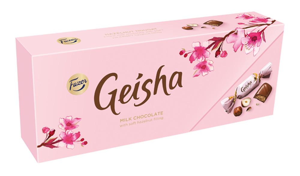 Конфеты Geisha из молочного шоколада с начинкой из тертого ореха 270г Fazer