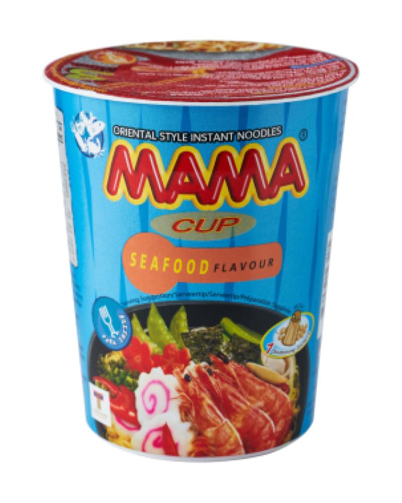 Лапша б/приготовления Mama со вкусом морепродуктов 70г