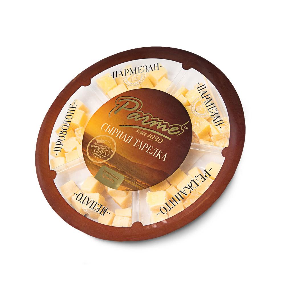 Набор твердых сыров Parme с миндалем очищенным 200г Россия