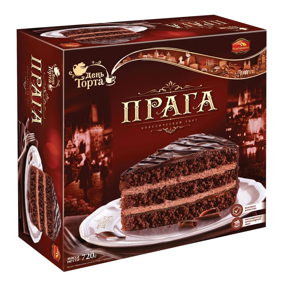 Торты и пирожные Торт бисквитный Прага 720г КБК Черёмушки
