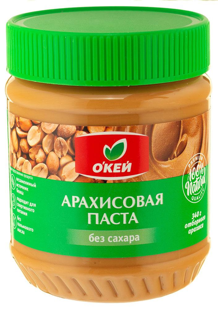 Паста арахисовая ОКЕЙ без сахара 340г