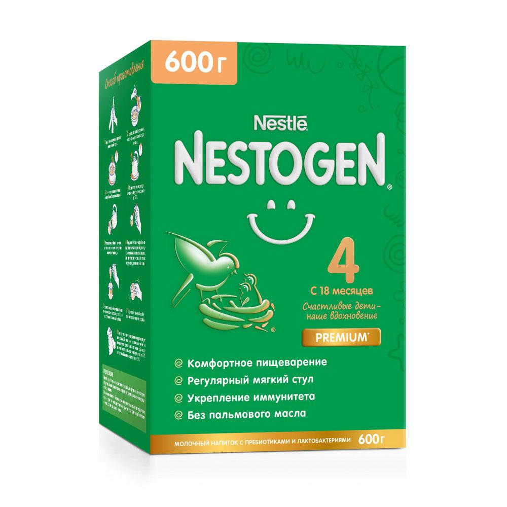 Молочко Nestogen 4 с пребиотиками и лактобактериями с 18мес 600г