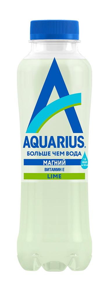 Напиток Aquarius лайм б/алк н/газ 0,4л пэт