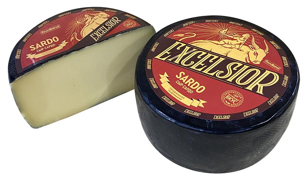 БЗМЖ Сыр твердый Sardo 45% Россия кг