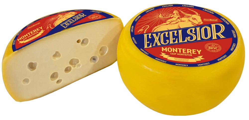 БЗМЖ Сыр полутвердый Monterey ТМ Excelsior 45% Россия кг