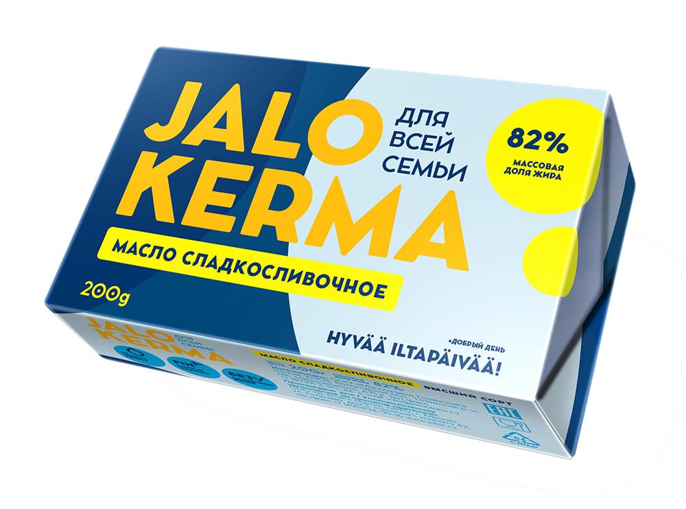 БЗМЖ Масло сладкослив Jalo Kerma 82% 200г