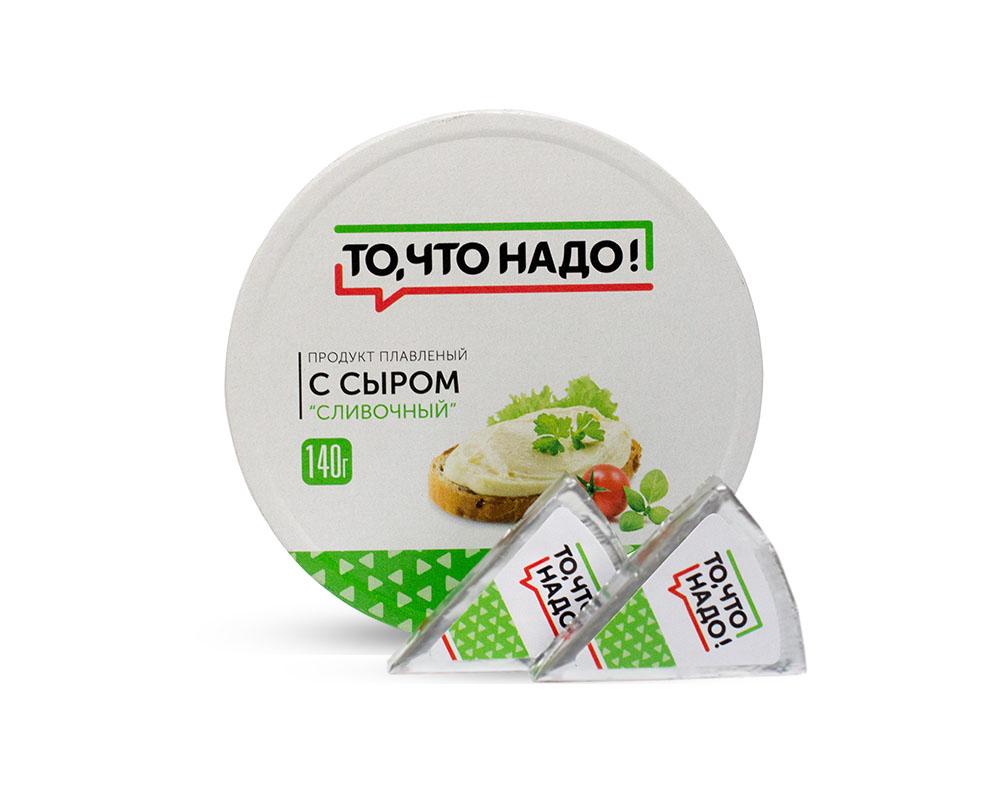 Плавленые сыры  Окей Доставка СЗМЖ Продукт плавленый с сыром ТЧН! сливочный 140г круг