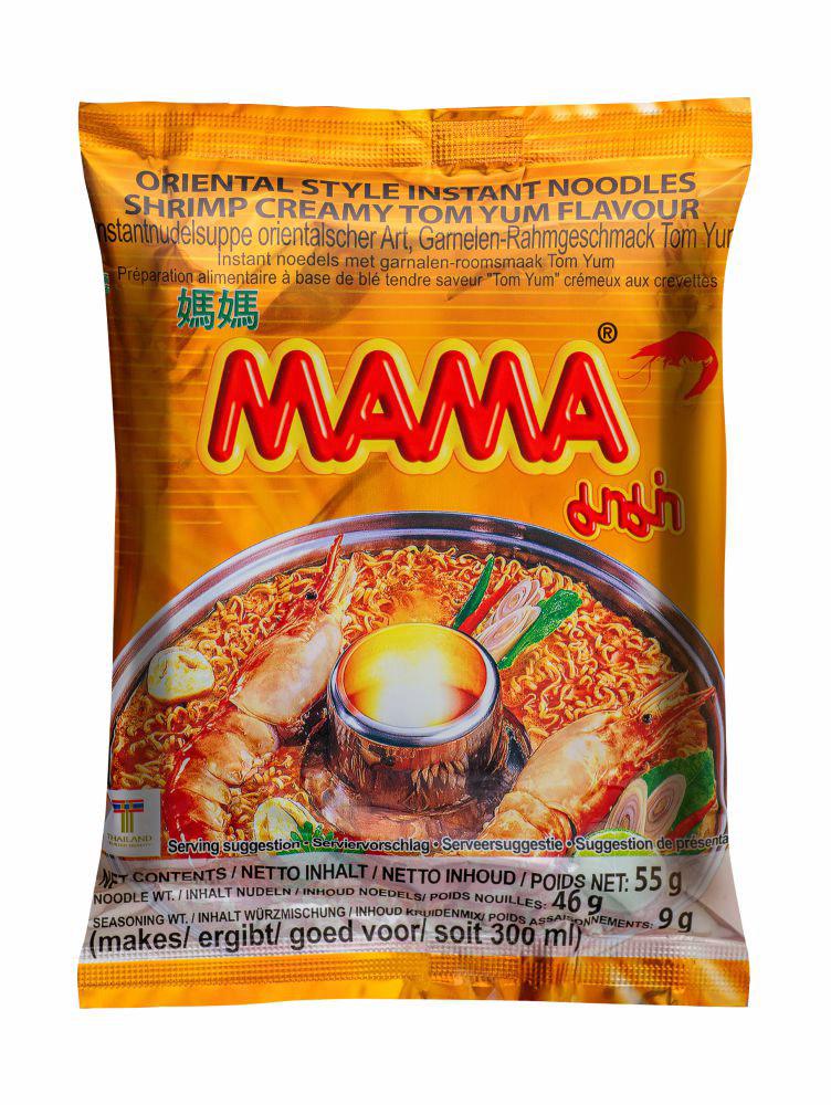 Лапша б/приготовления Mama со вкусом кремовый Том Ям 55г