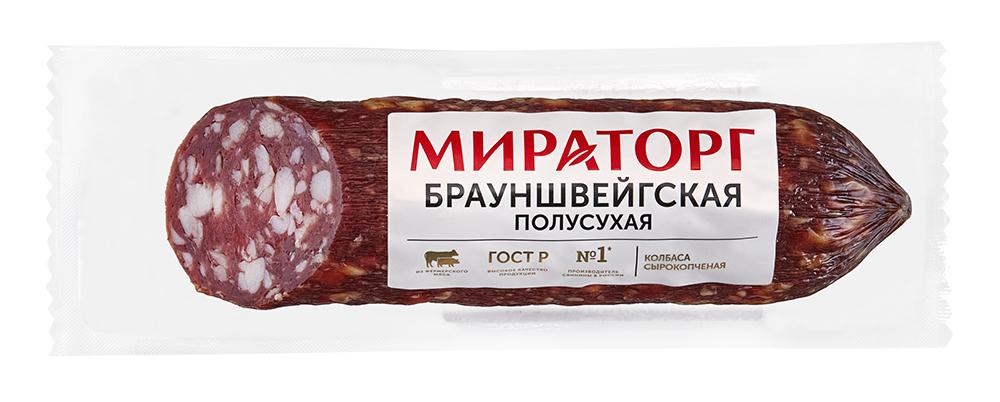 Колбасы копченые Колбаса с/к Брауншвейгская 300г, Мираторг