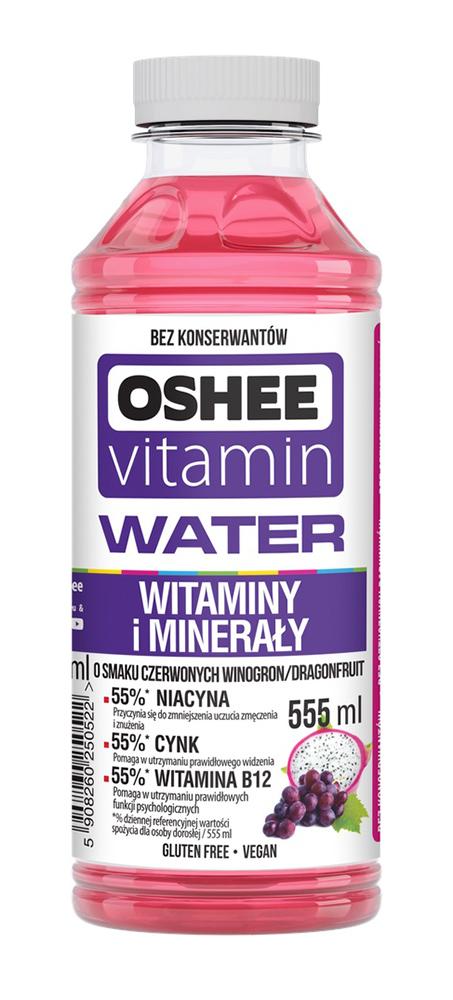 Напиток OSHEE VITAMIN WATER виноград /питайя  н/газ 0,55л пэт