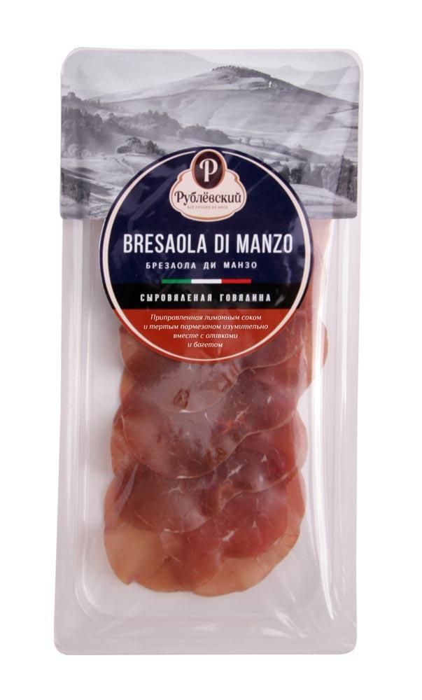 Мясные деликатесы  Окей Доставка Говядина с/в Bresaola di manzo нарезка 50г Рублевский