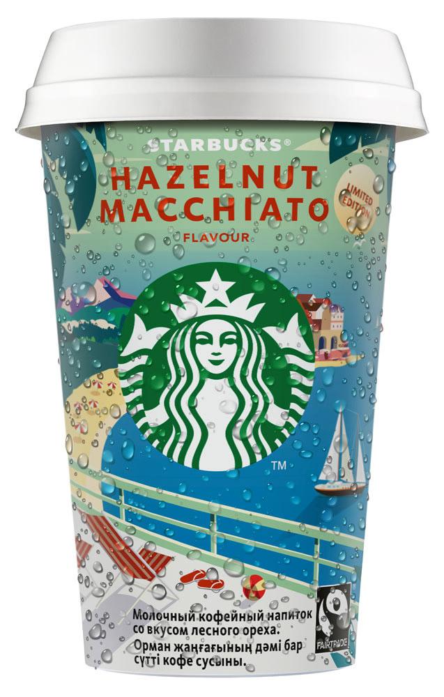 БЗМЖ Напиток мол-коф  Starbucks Hazelnut Macchiato 220мл